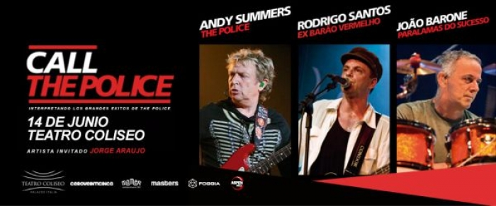 Andy Summers llega con CALL THE POLICE a la Argentina! Inicia la venta General. 14 de junio, Teatro Coliseo!